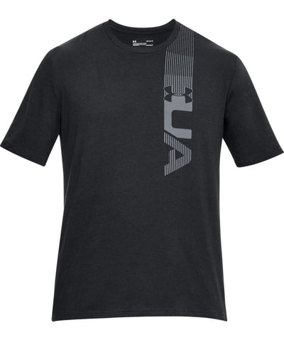 UNDER ARMOUR MEN'S Q2 BRANDED LEFT CHEST T SHIRT - BLACK