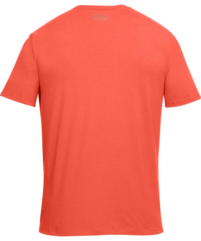 UNDER ARMOUR MEN'S Q2 BRANDED LEFT CHEST T SHIRT - ORANGE