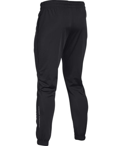 UNDER ARMOUR MEN'S RELENTLESS TAPERED PANTS - BLACK