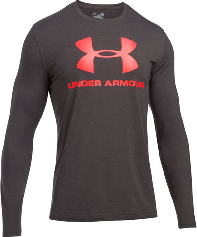 UNDER ARMOUR MEN'S SPORTSTYLE LOGO LONG SLEEVE SHIRT - GREY