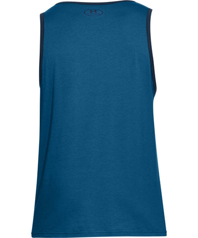 UNDER ARMOUR MEN'S STACKED LEFT CHEST TANK - BLUE