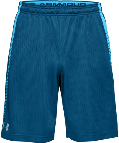 UNDER ARMOUR MEN'S TECH MESH GRAPHIC SHORTS - BLUE