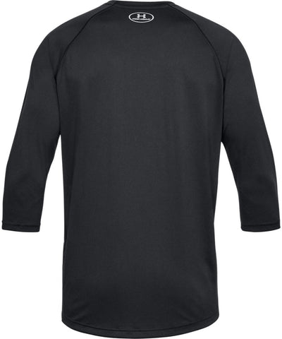 UNDER ARMOUR MEN'S TECH POWER SLEEVE SHIRT - BLACK