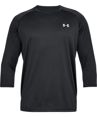 bfb5cdc0cf862 UNDER ARMOUR MEN S TECH POWER SLEEVE SHIRT - BLACK ...