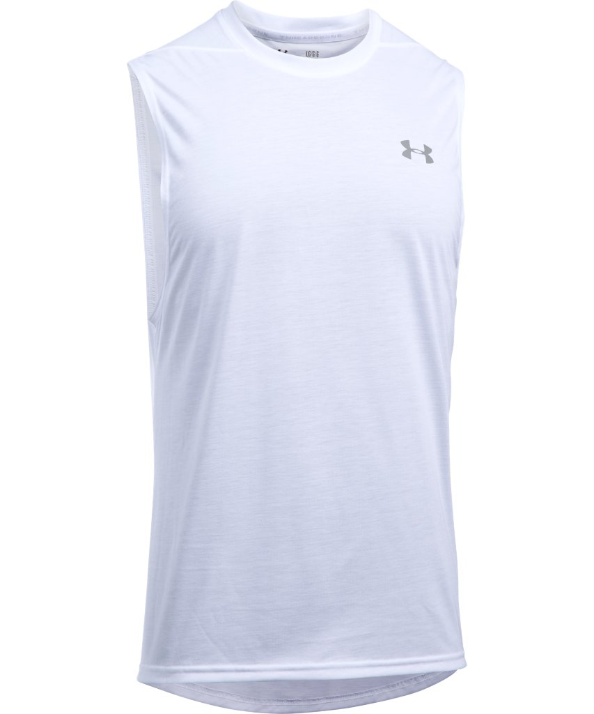 6a1460a773334 UNDER ARMOUR MEN S THREADBORNE MUSCLE TANK - WHITE – Pro Hockey Life