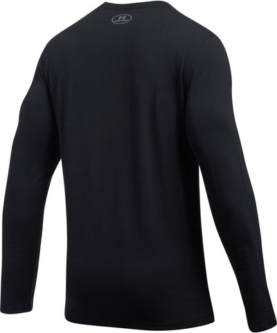 UNDER ARMOUR MEN'S UA SHIFT CENTER CHEST LS- BLACK