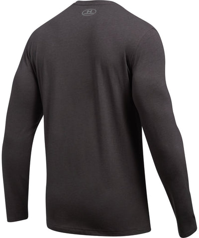 UNDER ARMOUR MEN'S UA SHIFT CENTER CHEST LS- CHARCOAL