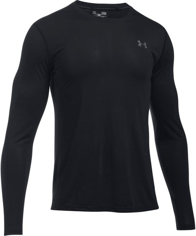 UNDER ARMOUR MEN'S UA THREADBORNE LS- BLACK