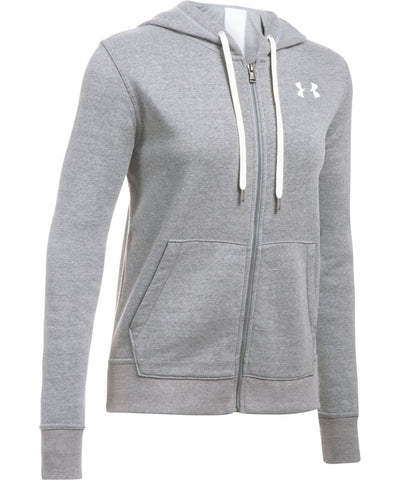 UNDER ARMOUR WOMEN'S FAVORITE FLEECE FULL ZIP HOODIE - CARBON