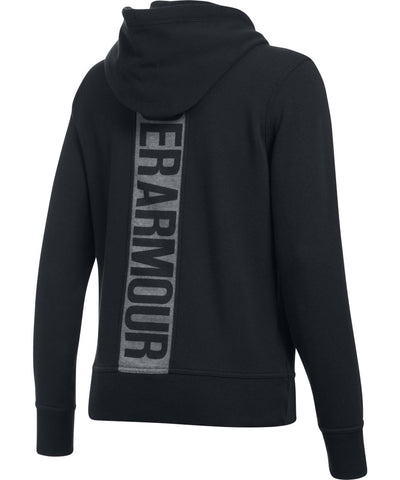 UNDER ARMOUR WOMEN'S FAVORITE FLEECE FULL ZIP HOODIE - BLACK