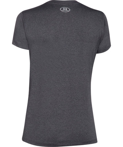 UNDER ARMOUR WOMEN'S TECH SOLID V NECK T SHIRT - GREY