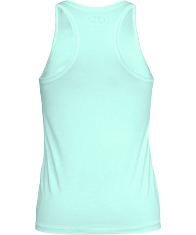 UNDER ARMOUR WOMEN'S TECH TWIST TANK - GREEN