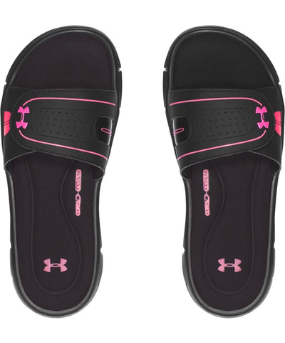 UNDER ARMOUR WOMEN'S UA IGNITE VIII SANDALS - BLACK/PINK