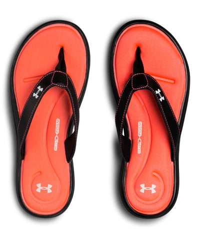 UNDER ARMOUR WOMEN'S UA MARBELLA VI SANDALS - BLACK/PINK