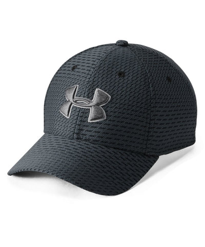 UNDER ARMOUR MEN'S PRINTED BLITZING 3.0 CAP - BLACK