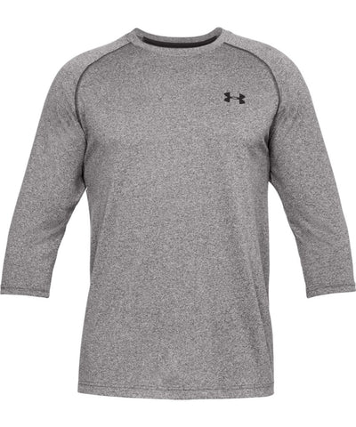 UNDER ARMOUR MEN'S TECH POWER SLEEVE SHIRT - GREY