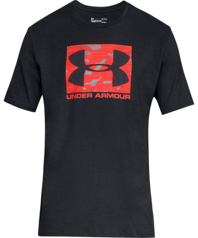 UNDER ARMOUR MEN'S UA BOXED SPORTSTYLE T SHIRT - BLACK