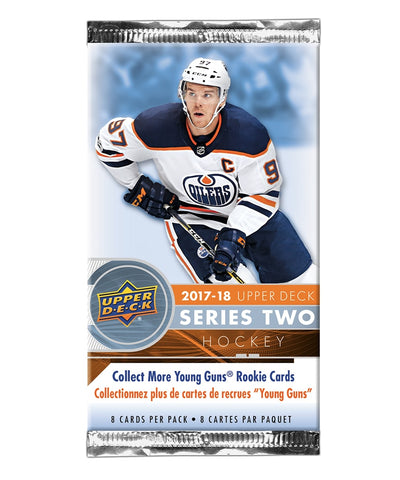 UPPER DECK SERIES 2 2017-2018 NHL HOCKEY CARDS