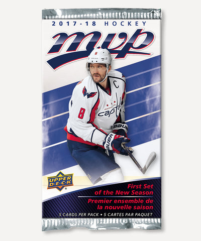 UPPER DECK MVP 2017-2018 HOCKEY CARDS