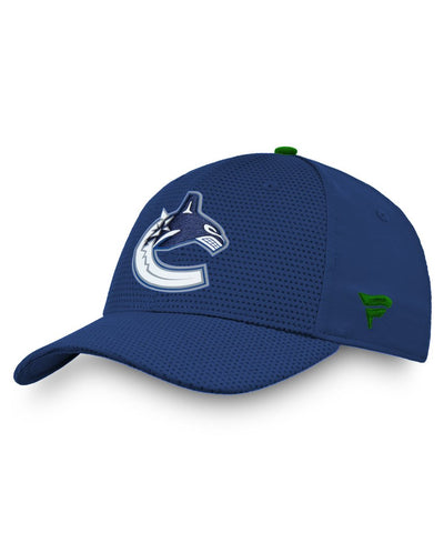 VANCOUVER CANUCKS FANATICS MEN'S RINKSIDE STRUCTURED STRETCH HAT