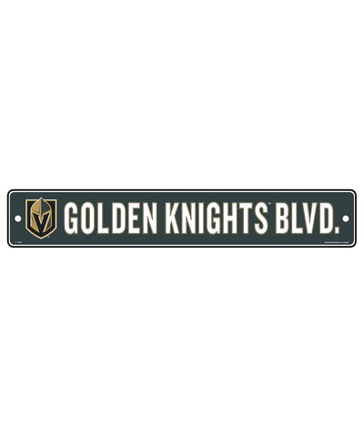 "VEGAS GOLDEN KNIGHTS 4""X23"" STANDARD STREET SIGN"