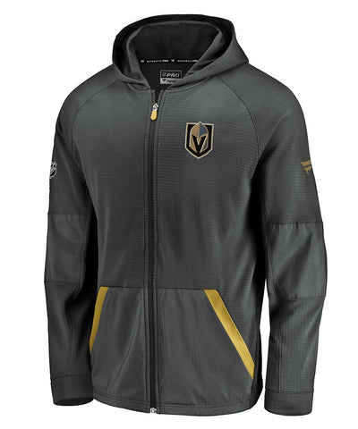 VEGAS GOLDEN KNIGHTS FANATICS MEN'S RINKSIDE GRIDBACK FULL ZIP HOODIE