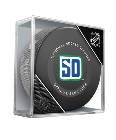 VANCOUVER CANUCKS 2019 OFFICIAL GAME PUCK