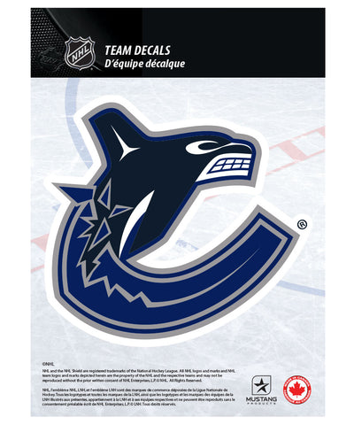 "VANCOUVER CANUCKS 5"" X 7"" NHL TEAM DECAL"