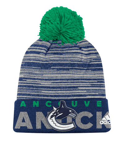VANCOUVER CANUCKS ADIDAS CUFFED POM KNIT BEANIE