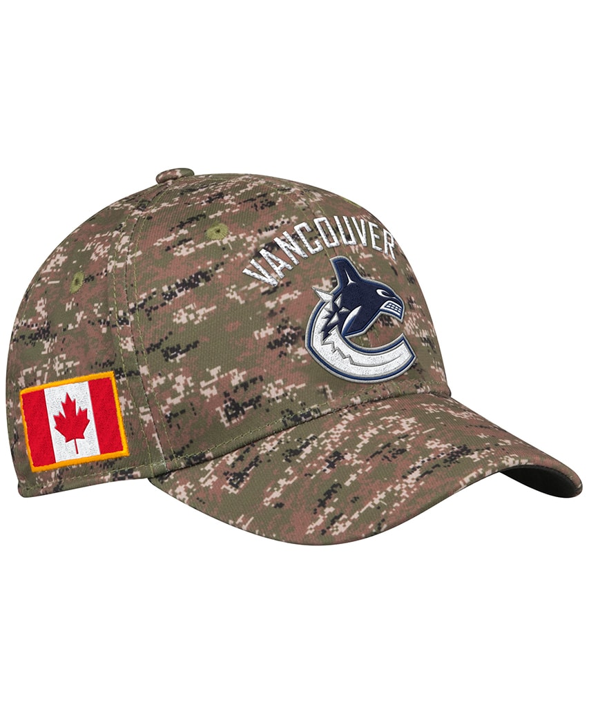 low priced 8367f 94d73 VANCOUVER CANUCKS ADIDAS MEN S STRUCTURED FLEX CAMO HAT – Pro Hockey Life