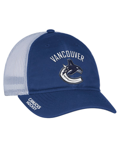 VANCOUVER CANUCKS ADIDAS MESHBACK SLOUCH FLEX HAT