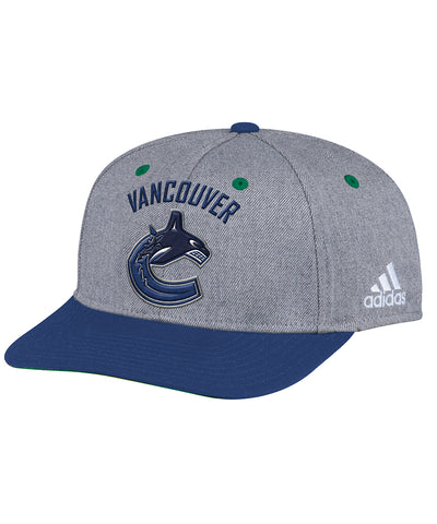 VANCOUVER CANUCKS ADIDAS TWO TONE STRUCTURED ADJUSTABLE HAT