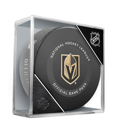 VEGAS GOLDEN KNIGHTS 2019 OFFICIAL GAME PUCK