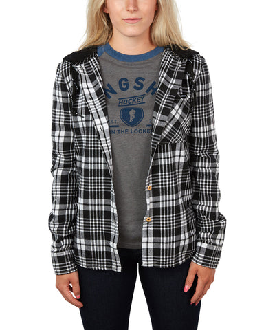 GONGSHOW WOMEN'S PLAID FOR LIFE HOODIE