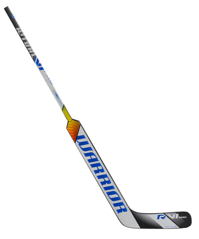 WARRIOR RITUAL V1 PRO SR GOALIE STICK - SILVER/WHITE/BLUE