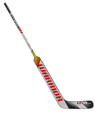 WARRIOR RITUAL V1 PRO SR GOALIE STICK - SILVER/WHITE/RED