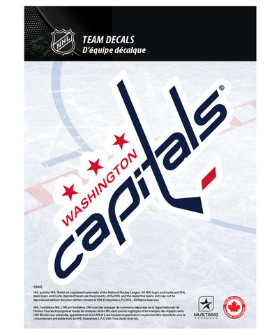 "WASHINGTON CAPITALS 5"" X 7"" NHL TEAM DECAL"