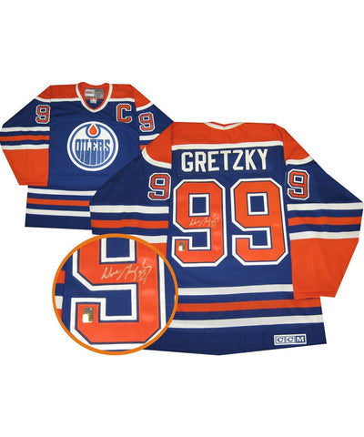 WAYNE GRETZKY EDMONTON OILERS FRAMEWORTH AUTHENTIC SIGNED JERSEY