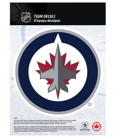 "WINNIPEG JETS 5"" X 7"" NHL TEAM DECAL"