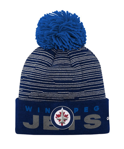 WINNIPEG JETS ADIDAS JR CUFFED POM KNIT BEANIE