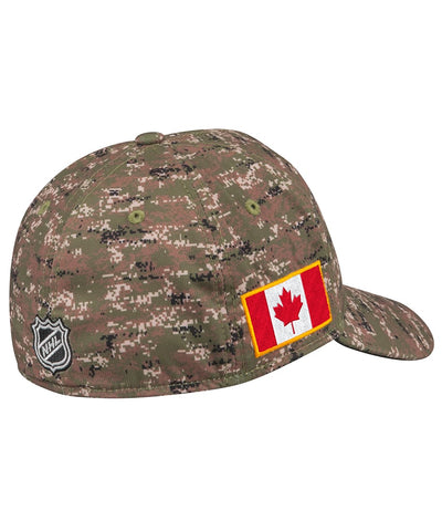 WINNIPEG JETS ADIDAS MEN'S STRUCTURED FLEX CAMO HAT