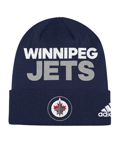ADIDAS WINNIPEG JETS LOCKER ROOM CUFFED BEANIE