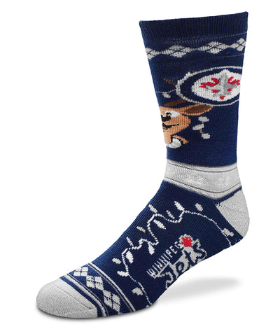 WINNIPEG JETS MEN'S CHRISTMAS SOCKS