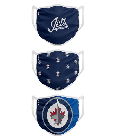 WINNIPEG JETS KIDS  FACE MASKS - 3 PACK
