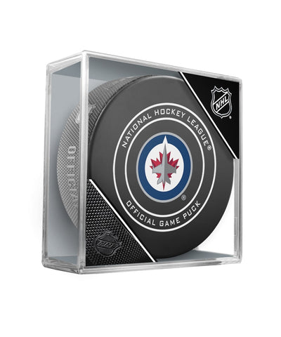 WINNIPEG JETS OFFICIAL GAME PUCK