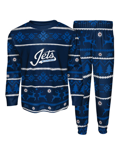 WINNIPEG JETS TODDLER PAJAMA CREWNECK SET