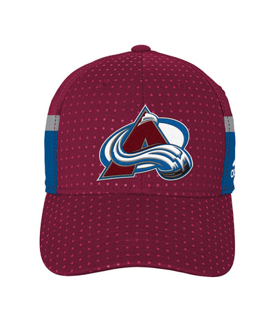 ADIDAS COLORADO AVALANCHE 2017 STRUCTURED FLEX BOYS DRAFT HAT