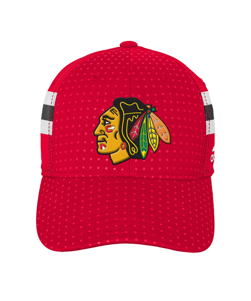 660881f9144a3 ... usa adidas chicago blackhawks 2017 structured flex mens draft hat pro  hockey life cca8f ce3db