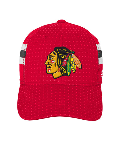 ADIDAS CHICAGO BLACKHAWKS 2017 STRUCTURED FLEX BOYS DRAFT HAT