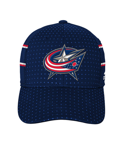 ADIDAS COLUMBUS BLUE JACKETS 2017 STRUCTURED FLX MEN'S DRAFT HAT